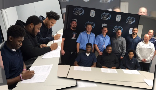 Player signing to play in college