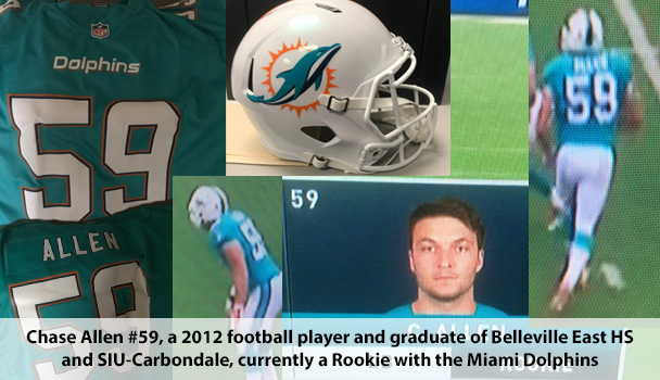 Chase Allen plays football for Miami Dolphins