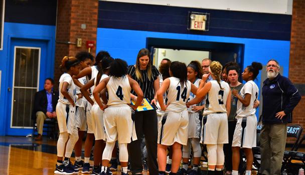 Girls Basketball Team Huddle