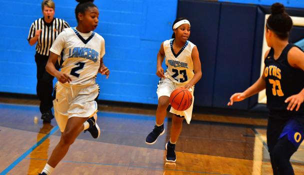 Girls Basketball Action Shot