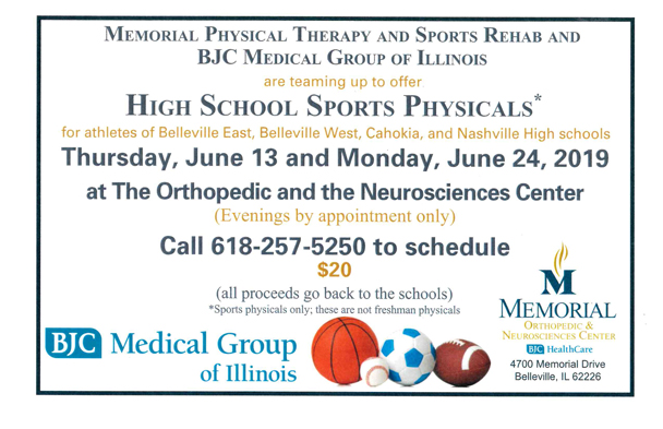 High School Sports Physicals 2019
