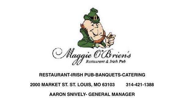 Maggie O'Brien's Restaurant ad