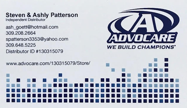 Steven and Ashly Patterson for Advocare