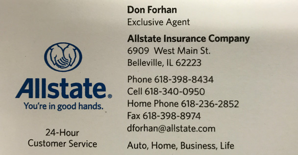 Allstate Insurance Don Forhan ad