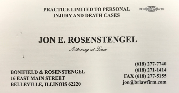 Jon Rosenstengel Attorney at Law ad
