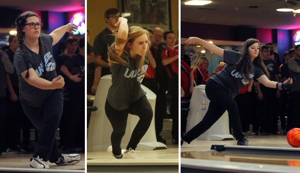 Girls Bowling Action Shots
